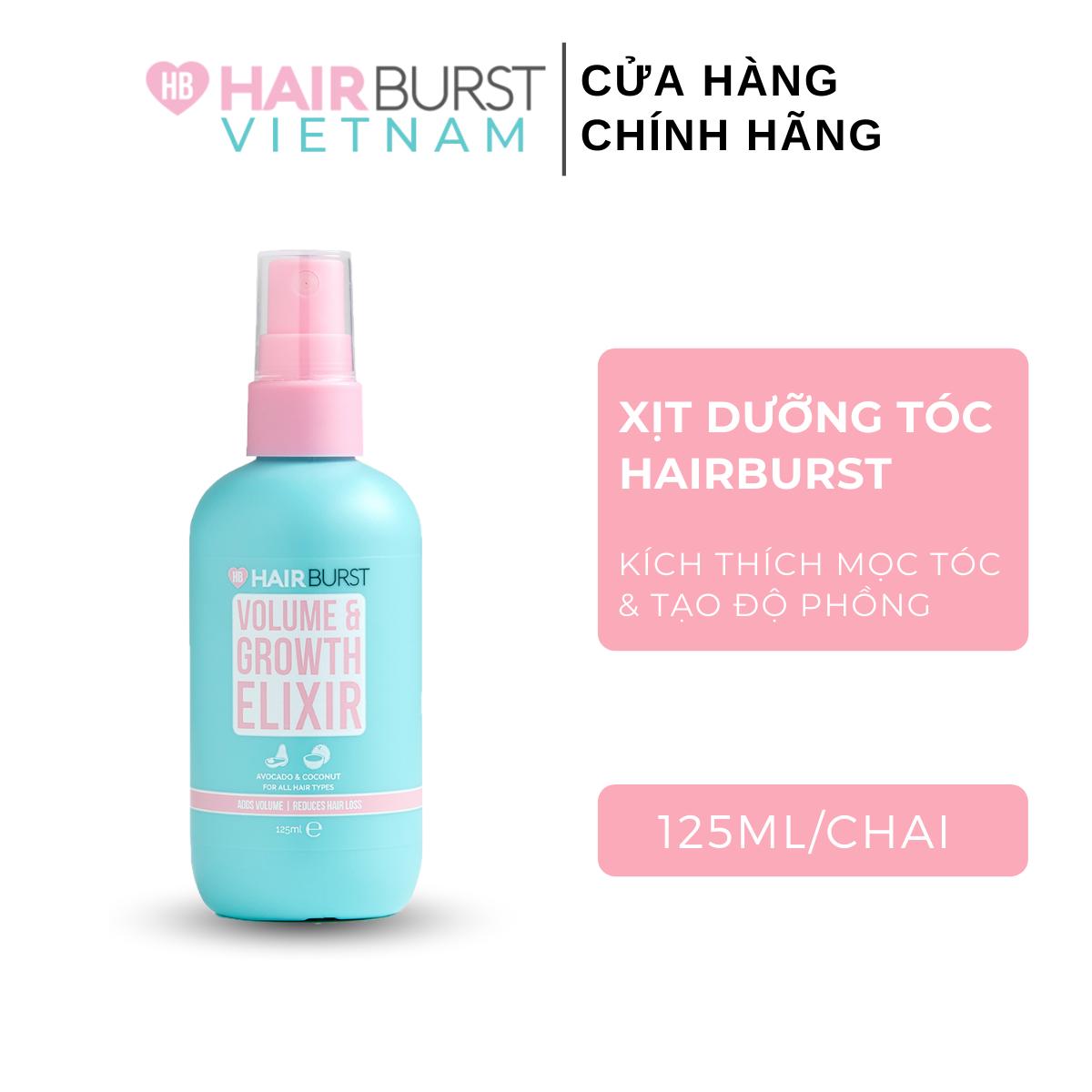 Xịt Dưỡng Tóc Hairburst Volume and Growth Elixir Tạo Độ Phồng Và Kích Thích Mọc Tóc 125ml