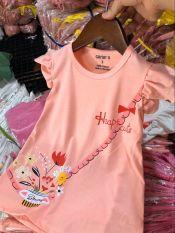 Váy Chữ A Váy Tết Bé Gái Phối Tay Bèo In Họa Tiết Lọ Hoa Thời Trang Julykids VAY G1001