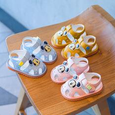 Giày tập đi – Sandal cho bé trai bé gái tập đi hình chuột Mickey đế mềm chống trơn trượt, phát tiếng kêu G33