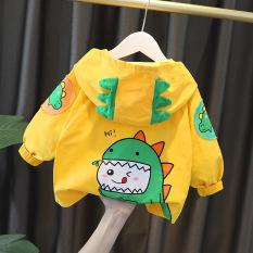 ❤️ áo tết cho bé ❤️ Áo khoác gió 2 lớp hình khủng long Dino cho bé – Full size từ 7-25 kg