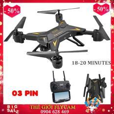 [Bộ 03 pin] Flycam KY601S Pin siêu khỏe – Bay 20P, Cánh Gập Camera WIFI FPV Full HD 1080p ,5MPx Truyền Hình Ảnh Về Điện Thoại