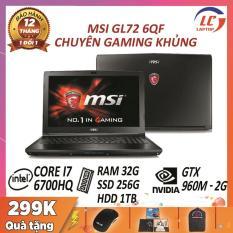 Laptop Game Chuyên Nghiệp Giá Rẻ, Laptop Gaming MSI GL72 6QF, i7-6700HQ, VGA Nvidia GTX 960M-2G, Màn 17.3 FullHD, Laptop Gaming