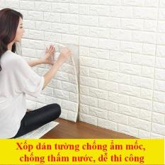 10 tấm Xốp Dán Tường 3D Giả Gạch Bóc Dán / Chịu lực, chống nước, chống ẩm mốc / 70x77cm – Chat với Shop để được giảm phí vận chuyển