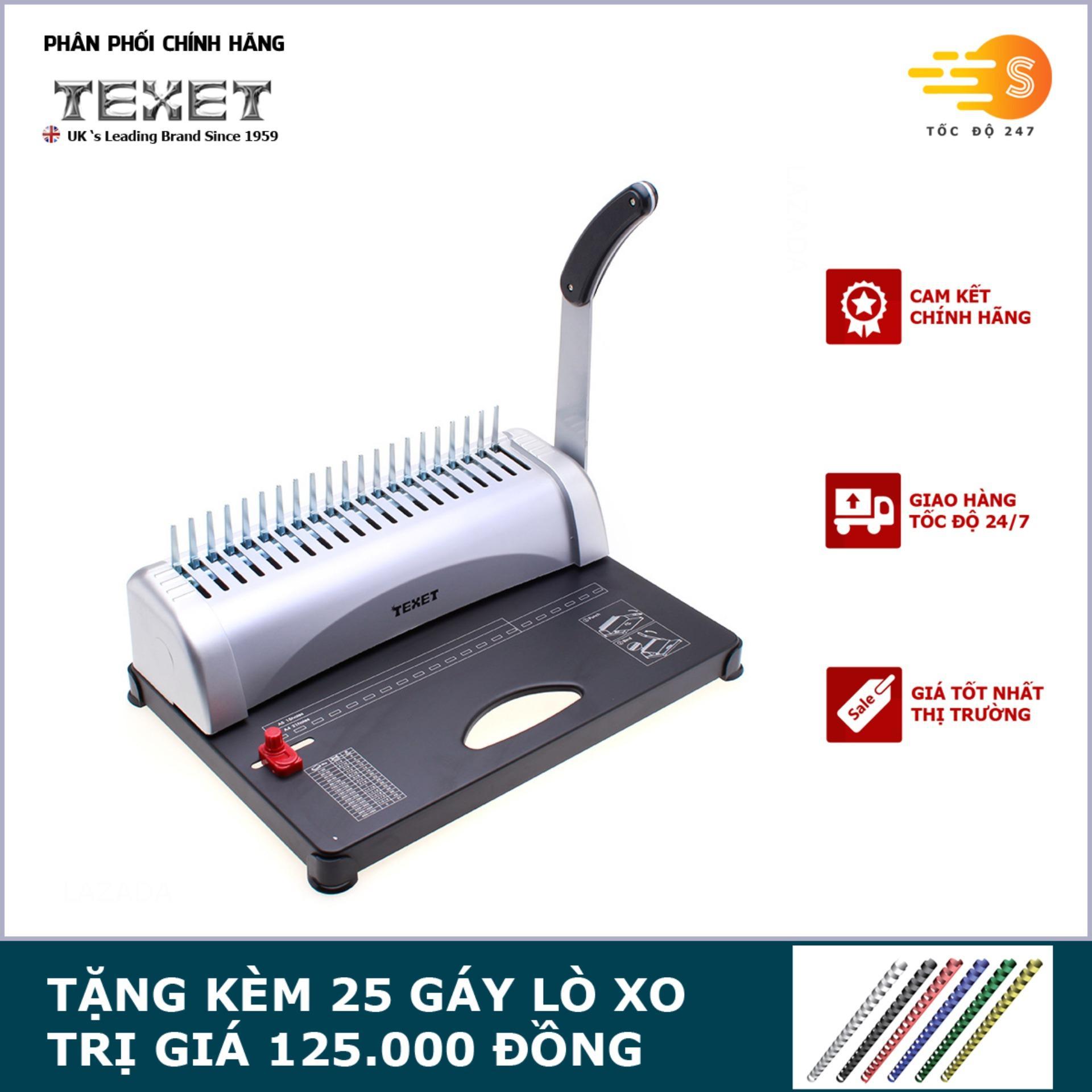 Máy đóng gáy lò xo cao cấp TEXET CB-12-450N - Tặng kèm 25 gáy lò xo TEXET