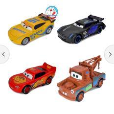 Đồ chơi hộp 4 chiếc xe ô tô sắt Lightning Mcqueen, bằng sắt, chạy bánh đà, siêu bền