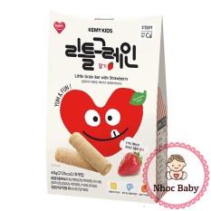 Bánh ăn dặm ngũ cốc dinh dưỡng Kemy Kids cho bé 8m+ (Hàn Quốc) – Dâu (đỏ)
