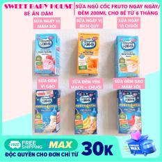 Sữa Fruto Nyannyan ngày đêm 200ml tăng cân cho bé từ 6 tháng. Date 2021 – Sweet Baby House