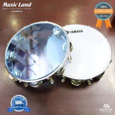 Trống Gõ Bo – Lục Lạc – Trống Lắc Tay – Tambourine Yamaha Chất liệu mặt Mica cao cấp, in logo YAMAHA – Kích thước 27 cm x 5 cm – Màu Trắng, Xanh