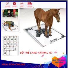 Bộ thẻ card Animal 4D+ động vật thực tế ảo tập đọc chữ cái (A – Z)