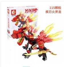 Lego xếp hình Ninja Kỵ Sĩ Kích thích bé tư duy sáng tạo Jika Store
