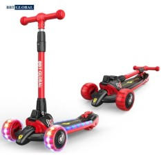 Xe trượt scooter bánh phát sáng BBT GLOBAL KM989 cho bé từ 6-12 tuổi, xe scooter, xe trẻ em , xe 3 bánh trẻ em