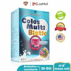 Sữa bột chuyên biệt cho trẻ táo bón, tiêu hóa kém Mama Sữa Non Colos Multi Biotic hộp 26 gói x 16g