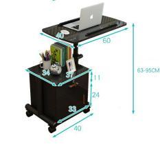 Kệ/tủ đầu giường 2 ngăn tủ, có bánh xe, kèm bàn đa năng có thể tùy hoặc tháo rời
