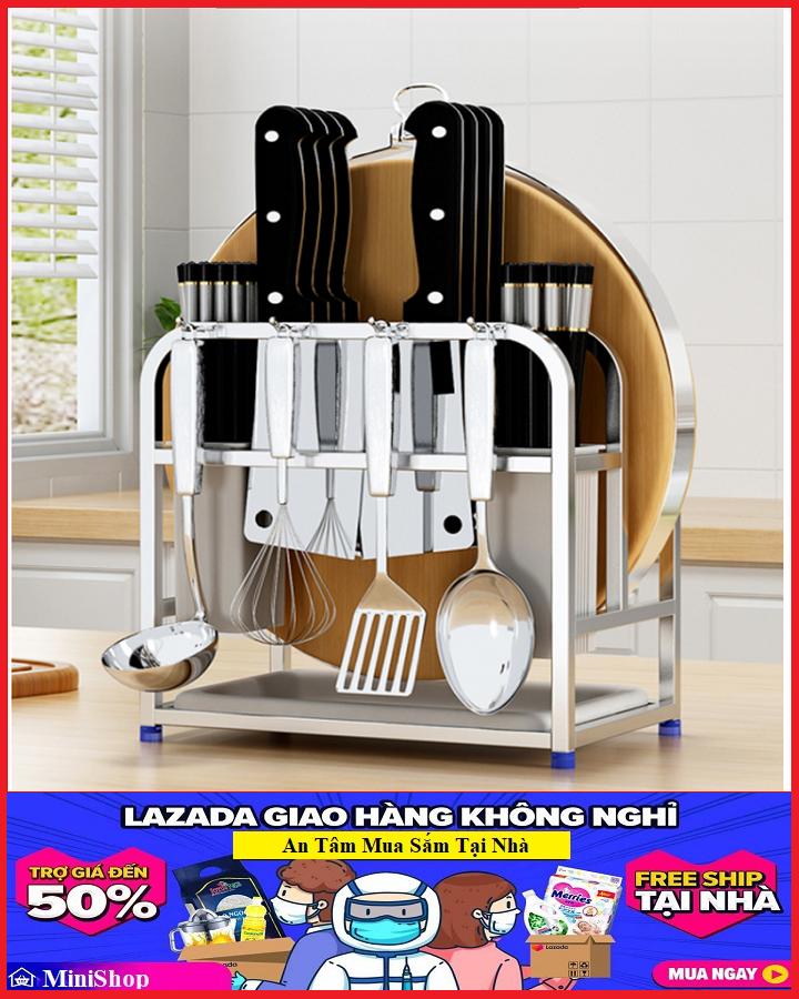 Kệ Để Dao Đũa Thớt Inox 26x15x24cm – Kệ Để Đồ Nhà Bếp – Kệ Nhà Bếp Inox