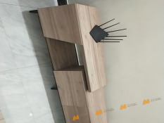 Tủ gỗ An Nhiên hiện đại góc cạnh sắc nét phù hợp căn hộ xứng đáng đồng tiền bỏ ra Gỗ MDF loại cao cấp độ dày 17mm chất lượng gỗ vượt trội Mẫu mới hiện đại A1115