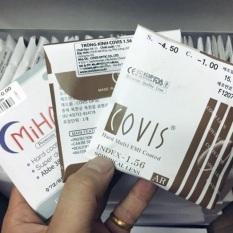 Tròng kính cận COVIS nhập khẩu korea. ( làm độ theo yêu cầu ). Giá 165k một cặp chiết xuất 1.56SP