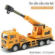 Xe đồ chơi mô hình, xe cần cẩu cứu hộ cho bé chất liệu nhựa an toàn, kích thước lơn