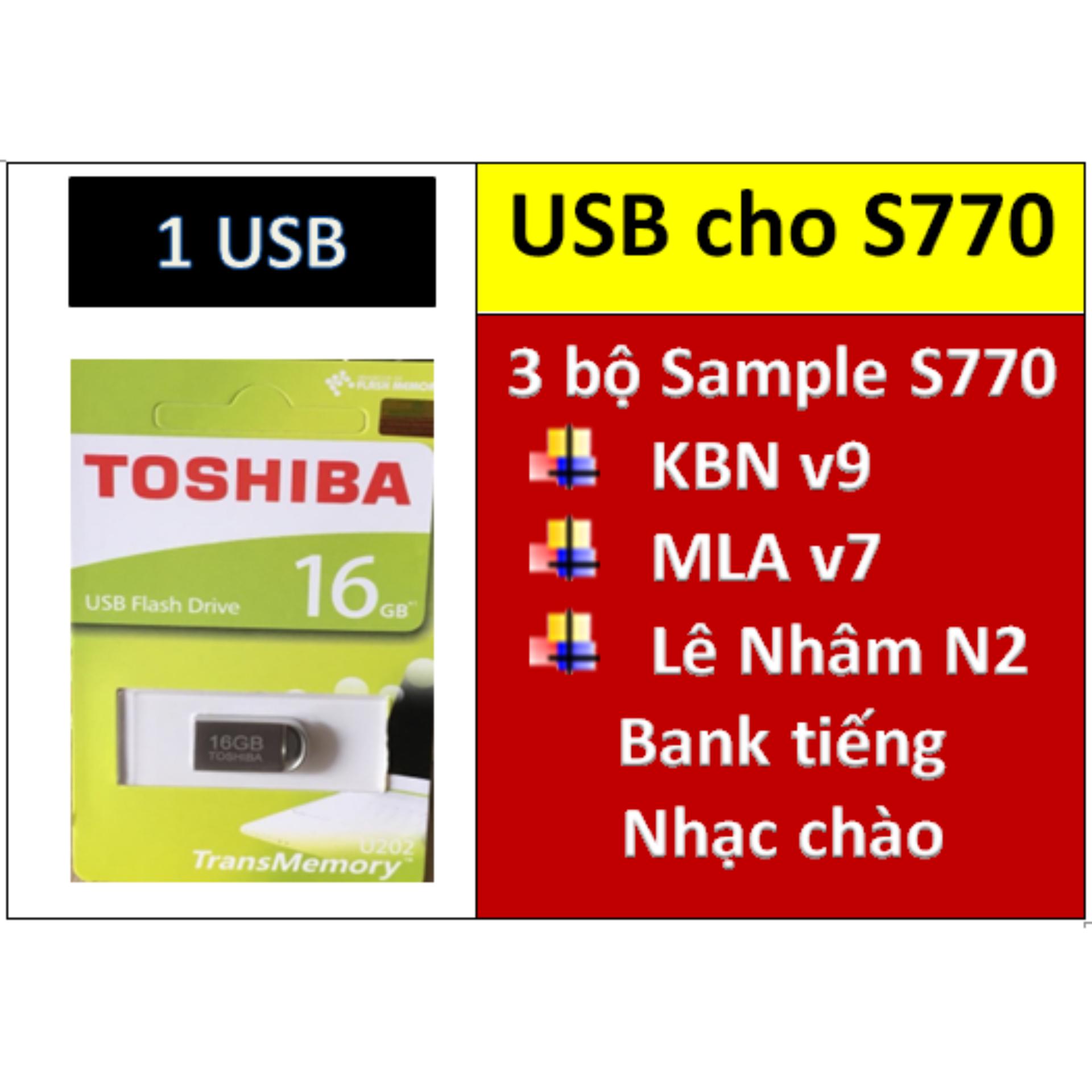 USB mini 3 BỘ Sample cho đàn organ yamaha PSR S770: Sample KBN v9, MLA v7, Lê Nhâm N2 + Full dữ liệu làm show