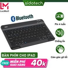 Bàn phím bluetooth cho ipad chính hãng Sidotech B750V bàn phím không dây bluetooth mini kết nối điện thoại ipad laptop máy tính bảng , sử dụng pin sạc nhanh, thời gian dùng 30 ngày/lần sạc, thiết kế mini, gõ phím cực đỉnh – Chính Hãng