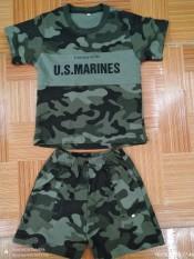 Bộ quần áo phông rằn ri ghi, lính trẻ em 1-8 tuổi