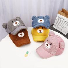 Nón hình gấu cho bé, chất vải cotton mềm mịn, dành cho bế 1-3 tuổi