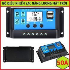 Bộ Điều Khiển Tấm Pin Năng Lượng Mặt Trời 50A 12V-24V 2 cổng USB 5v-2A