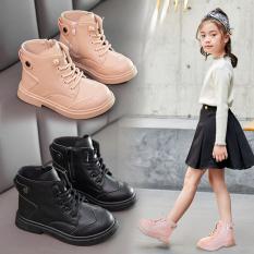 Giày boot cho bé gái giày trẻ em kiểu dáng Hàn Quốc siêu chất