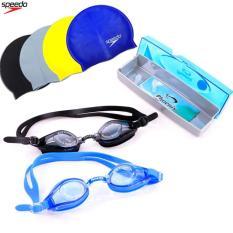 Combo mũ và kính bơi hàn Quốc Phoenix 203 ( LOẠI XỊN ) + Tặng Hộp Đựng Cao Cấp + Giao màu ngẫu nhiên