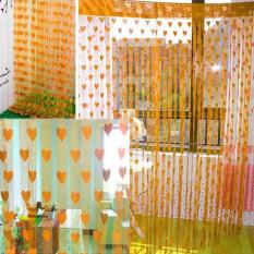 Rèm cửa sổ trang trí nhà cửa trái tim độc đáo chất liệu vải cotton mềm mại có kích thước 186cmx100cm