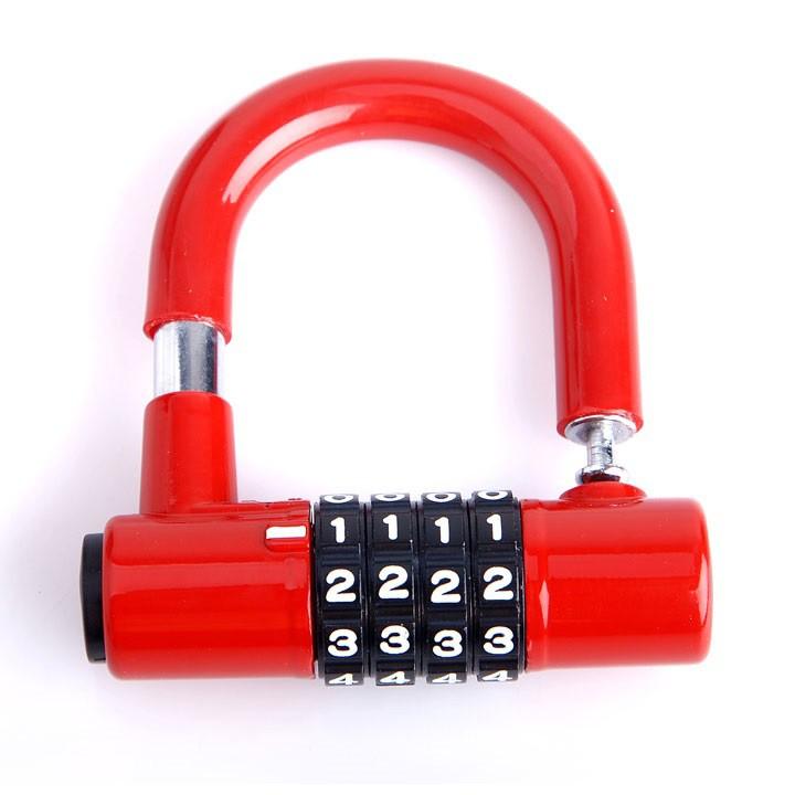 Ổ khóa chữ U mini 4 mã số bảo đảm an toàn cho tài sản, khóa an toàn, dụng cụ...