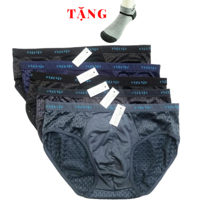Combo 5 quần lót nam thông hơi xuất Nhật – chất liệu cực mát và co giãn tốt – quần sịp nam – quần lót tam giác nam – quần lưới nam – HIN Fashion S02
