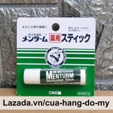 Son Dưỡng Omi Brotherhood Menturm Medicated Stick With Menthol 4g Nhật Bản – Dành Cho Môi Khô Và Nứt Nẻ