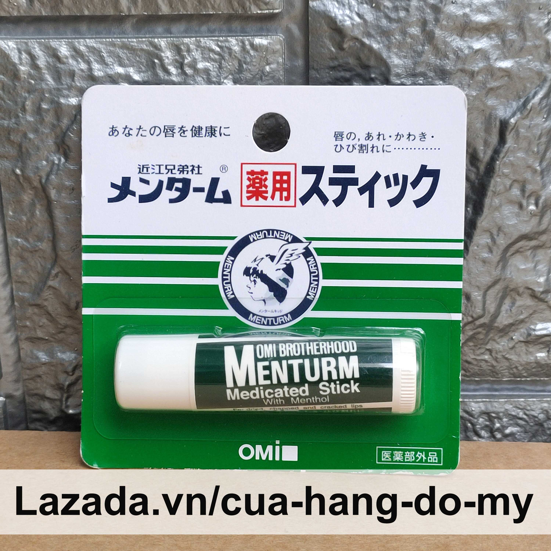 Son Dưỡng Omi Brotherhood Menturm Medicated Stick With Menthol 4g Nhật Bản - Dành Cho Môi Khô Và Nứt Nẻ