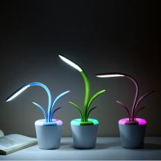 Đèn bàn, đèn học LED chống cận nút cảm ứng tích hơp pin 1200mah hình nhánh cây dễ thương cao cấp