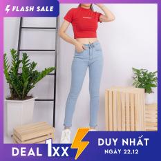Quần jean nữ Ulzzang GENZ mẫu trơn lưng cao thời trang ZWJ006