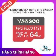 Thẻ nhớ Yoosee 64GB tốc độ cao, bảo hàng 12 tháng – thẻ đỏ