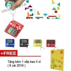 Móc Khóa Máy Đồ Chơi Game Xếp Gạch Mini CoopPer ( màu ngẫu nhiên ) Tặng kèm 1 xấp bao lì xì 2019 ( vàng )