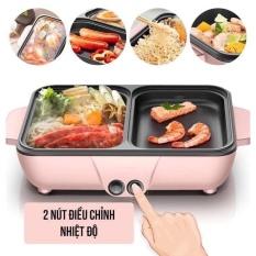 Lẩu kèm nướng mini 2in1 Hàn Quốc – Lẩu Uyên Ương