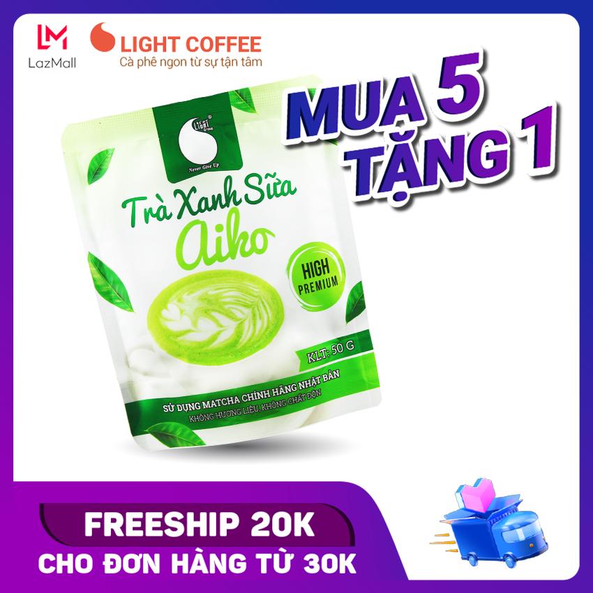 [MUA 5 TANG 1] Bột matcha sữa tốt cho sức khỏe Light Coffee, sử dụng Matcha Nhật không hương liệu Gói 50g