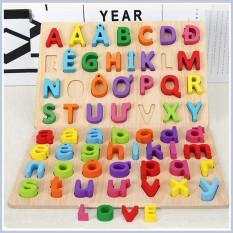 Bảng chữ cái NỔI Tiếng Việt 3D bằng gỗ giúp bé nhận biết màu sắc – Đồ chơi gỗ an toàn cho bé