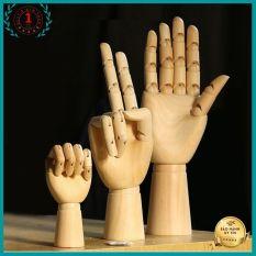 decor bàn tay gỗ trang trí hoặc làm tay chụp ảnh sản phẩm có thể điều chỉnh các hướng Độ Dài 25CM