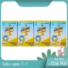 Lốc 4 hộp sữa Grow hương vani 110ml Date T12/2021
