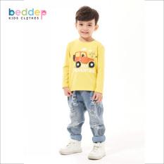 Áo thun trơn dài tay Beddep kids clothes cho bé trai từ 1 đến 8 tuổi B01