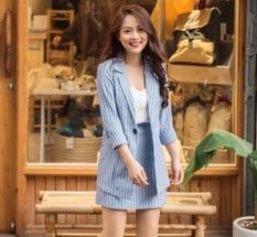 Set vest nữ 3 món Hàn Quốc cao cấp