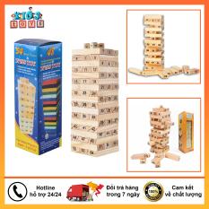 Bộ đồ chơi rút gỗ 54 thanh tặng kèm 4 con xúc xắc cho cả trẻ em và người lớn