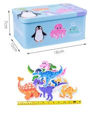(6 trong 1) Hộp đồ chơi gỗ ghép hình 6 hình trong 1 phát triển trí tuệ cho bé – Hộp thiếc cao cấp