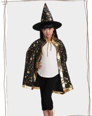 Bộ hóa trang lễ hội Halloween áo choàng và nón phù thủy