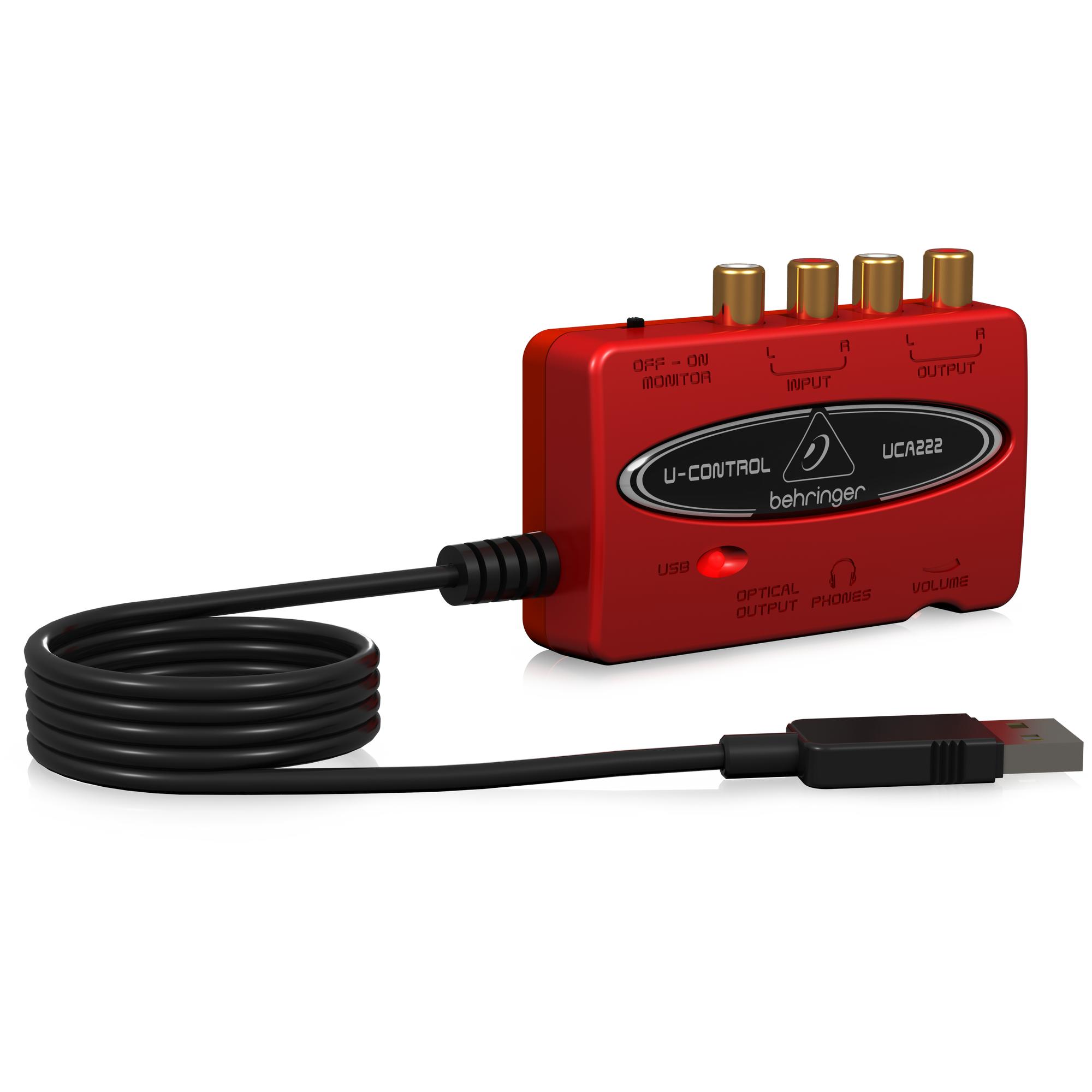 Sound card USB thu âm kỹ thuật số | Behringer U-CONTROL UCA222