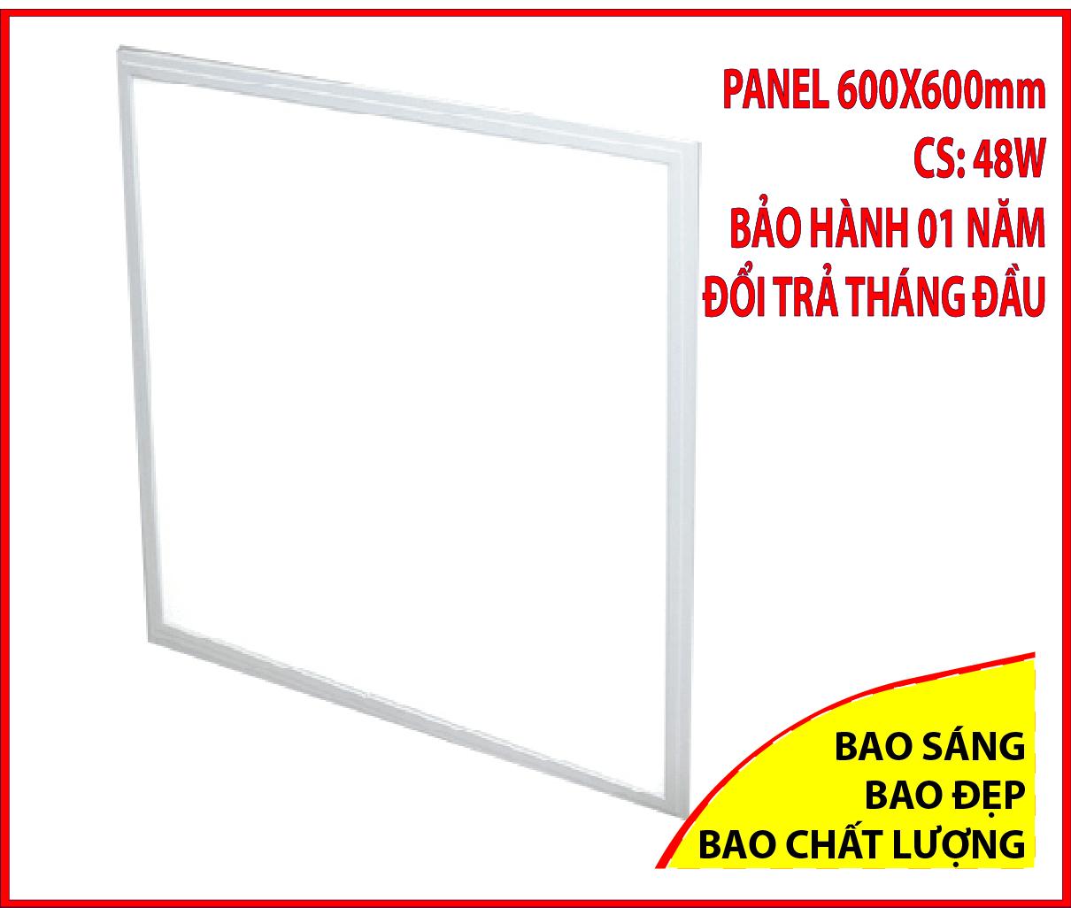Đèn panel, đèn led âm trần 600×600 – 48W đèn led panel 60×60