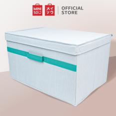 Thùng đựng đồ kèm nắp size lớn, xanh Miniso Storage Box with Lid- Large(Blue)